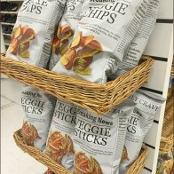Wicker Shelves Sell Veggie Sticks