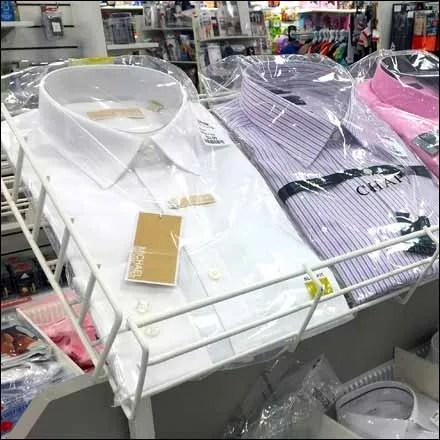 Declined Open Wire Dress Shirt Rack Main