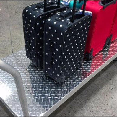 Diamond Plate Luggage Cary Rear