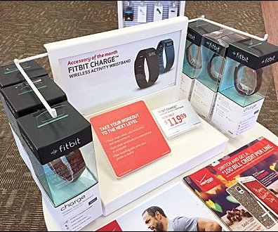 FitBit WristBand Right Angle POP Display 1