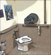 Toilet Seats Go Tribal at AXS Wingman - Wingman Rendering Timberline Day Care, Frisco, Colorado Overall