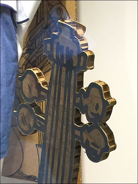 Corrugated Musical Instrument Visual Merchandising