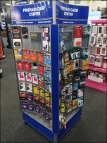 Curved Prepaid Card Center 1