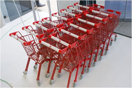 EuroFixture Kotal Shopping Carts in Miniature