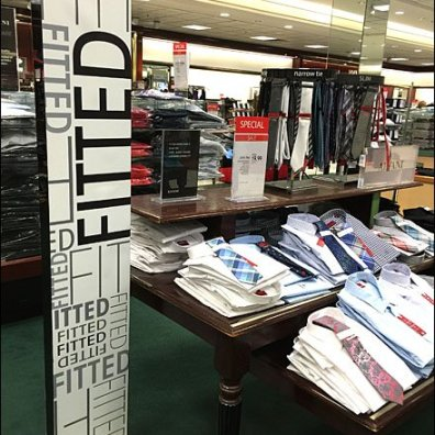 Fitted Dress Shirt Tall Sign Aux