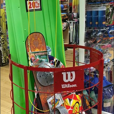 Wilson Snow Boards and Sleds Bulk Binned Aux