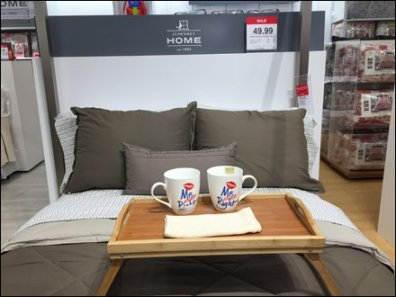 JCPenny Coffee In Bed Merchandising 1