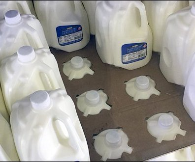 Nested Gallon Milk Jug Self-Merchandising