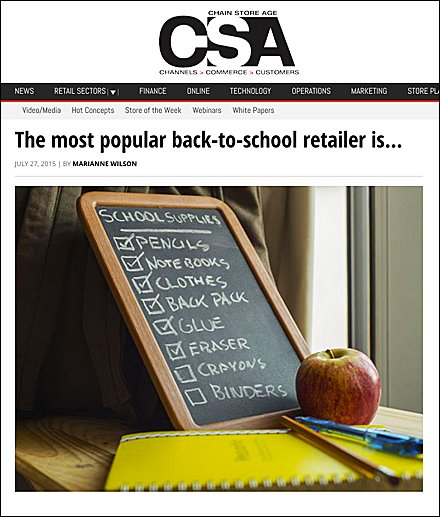 CSA Most Popular Back-To-School Retailer