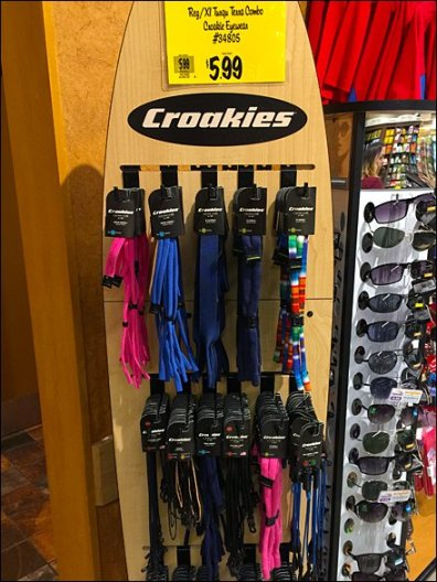 Croakies Branded Surfboard As Display