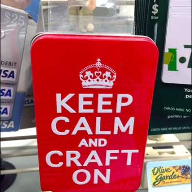 Keep Calm and Craft On 90º Tip Grid Scan Hook