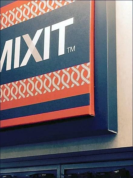 Mixit Corrugated Dimensinal Sign Main