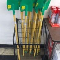 Spade Shovel Display Rack Front