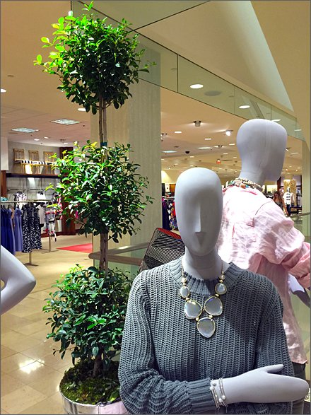 Topiary Visual Merchandising In Retail