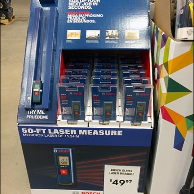 Bosch 50 ft Laser Try Me 1