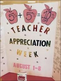 Teacher Appreciation Week Back-to-School Promotion