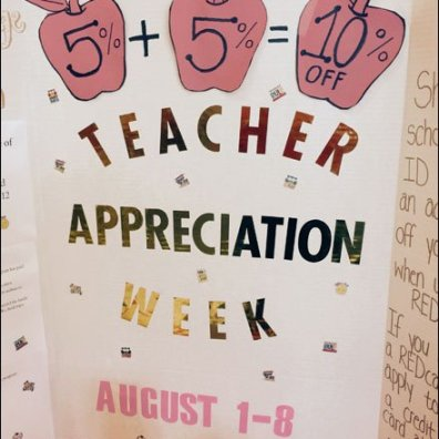 Teacher Appreciation Week Back-to-School Promotion