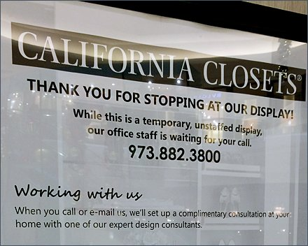 California Closets Mall Kiosk Is Staff-less Sales Pitch