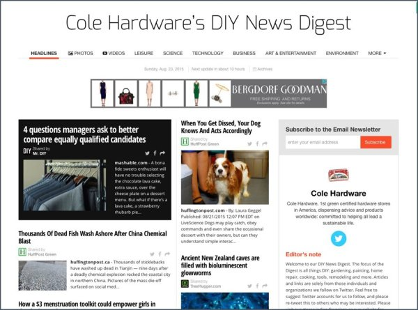 Cole Hardware D.I.Y. Social Media