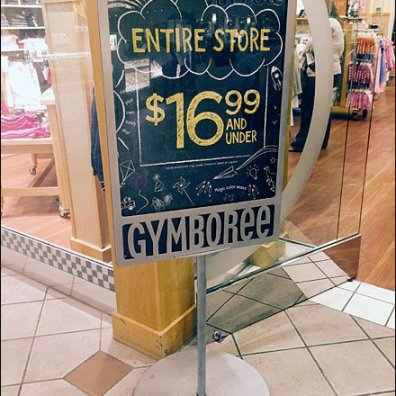 Gymboree Branded Sign Holder