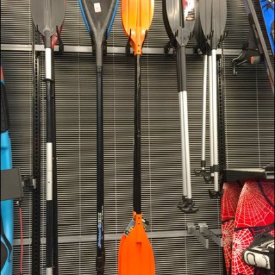 Kayak Paddle Undulating Hooks Bar Mount