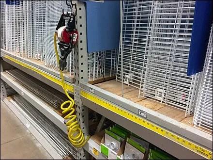 Pneumatic Cutter J-Hook for Pallet Rack 1