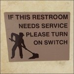 Restroom Needs Cleaning Callout Switch