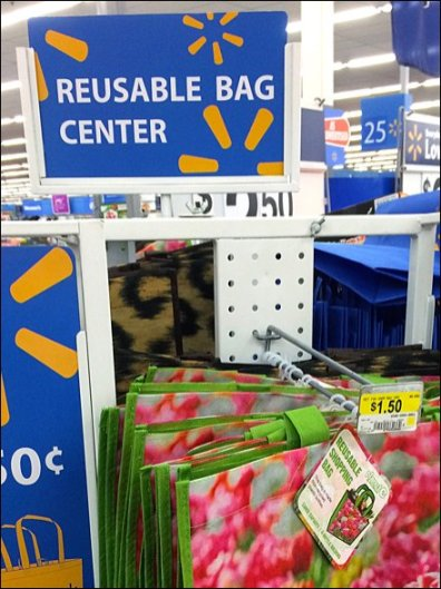 WalMart Reusable Bag Center Display