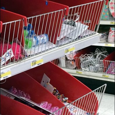 Reversable Plastic Shelf Dividers