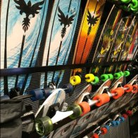 Skateboard Bottom-Up Display Rack