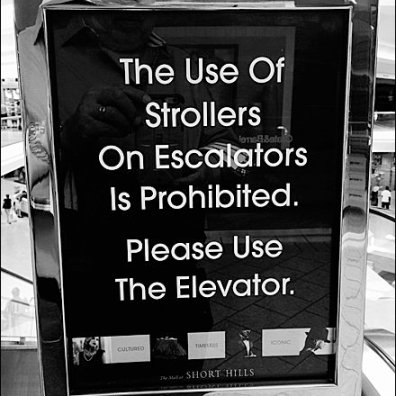 Strollers Banned Please Use Elevator main