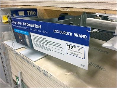 USG Durock Brand Bungee Corded Sign