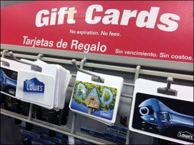 Clip-On Slatwire Hooks For Gift Cards