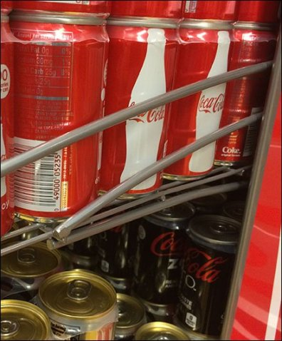Coca-Cola Arched Wire Rack Shelf Support 3