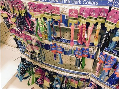 Curved Bar Pet Collar Display for Gondola