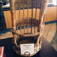 Custom Baguette Basket in Woven Wicker