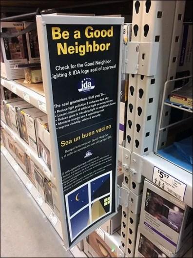 Good Neighbor Hinged Pallet Rack Sign