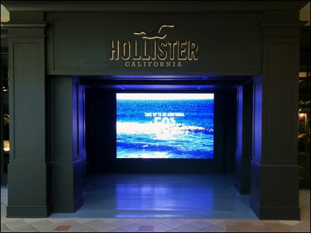 Hollister Wide-Screen Digital Store Entry