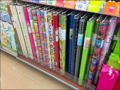 Precision Peg Hook Wrapping Paper Display