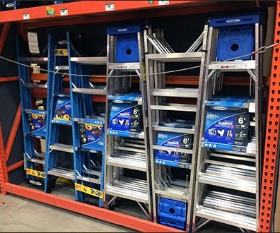 Interlocking Ladder Display on Pallet Rack 2