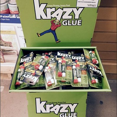 Krazy Glue Branded Corrugated Dimensional Display 2