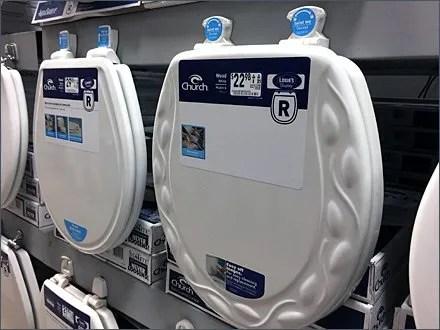 Lowes Mass Merchandising Toilet Seats on Pallet Rack. Lowes Mass Merchandising Toilet Seats on Pallet Rack   Fixtures