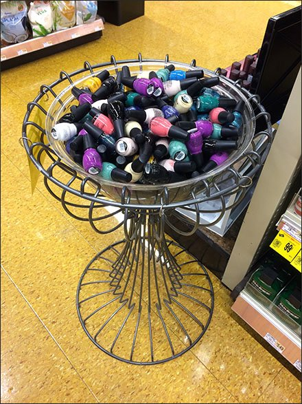 Nail Polish Store Fixtures - Ornate Wire Nail Polish Bulk Bin Pedestal