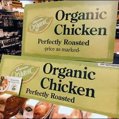 Organic Chicken Merchandising Sign 2