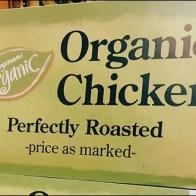 Organic Chicken Merchandising Sign 3
