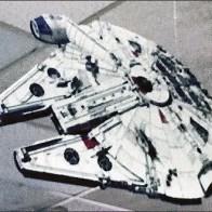 Star Wars Spacecraft Flown on Fishing Line