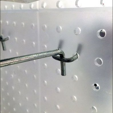 Translucent Plastic Pegboard All Wire Hooks 6