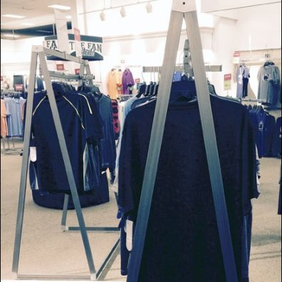 Triangular Apparel Rack 2