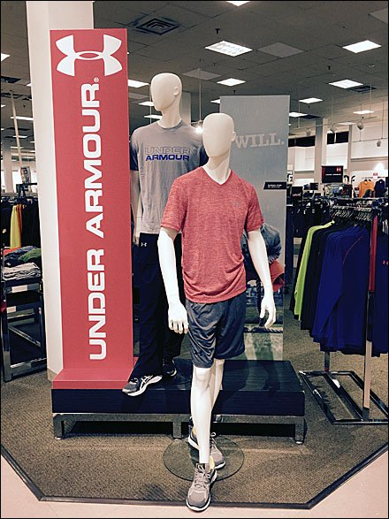 Under Armour Vertical Branded Sign
