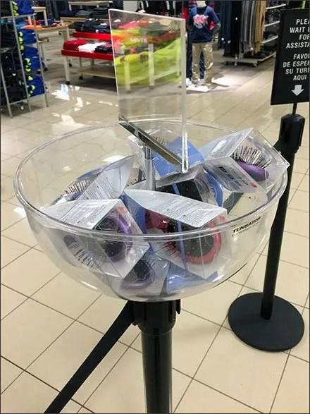 Queue Tailback Merchandising in a Bowl